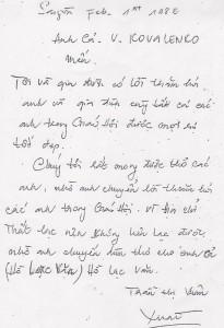 Bác Xuân letter 2