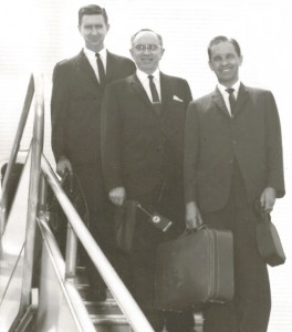 Elder Hanks, Hinckley, and mission president Garner